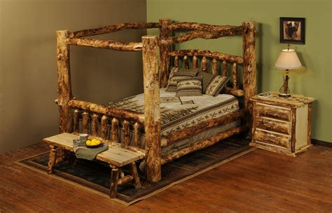 log canopy bed beartooth pass rustic aspen canopy bed rustic aspen log