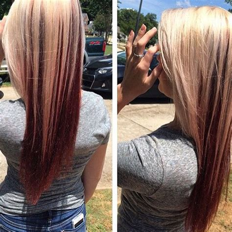 long hairstyles with color underneath my hair blonde on top red underneath in love me
