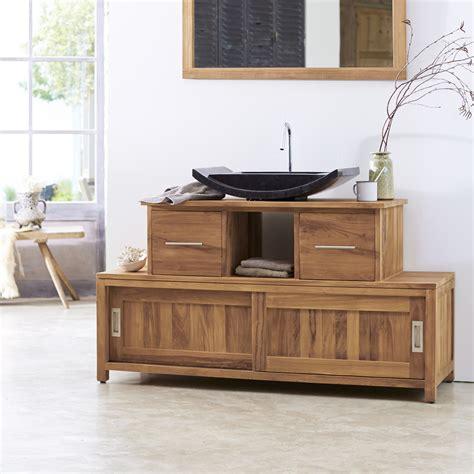 meuble salle de bain teck solde meuble en teck neela meuble rangement salle de bainsur tikamoon