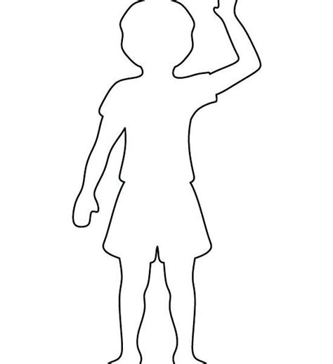 Bodice Template For Card by Boy Outline Printable Coloring Page Paintdatneworleans