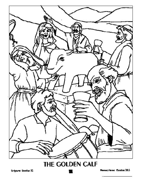 free aaron and the golden calf coloring pages