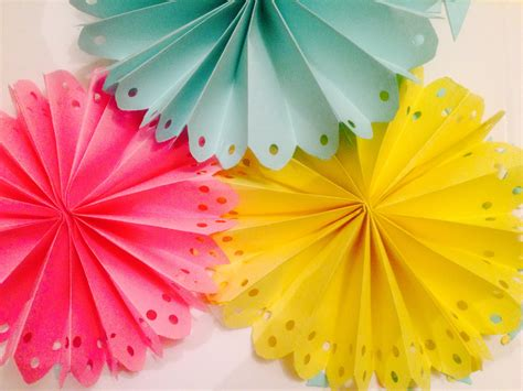 Easy Paper Decorations To Make - diy decorated paper fan backdrop wedding