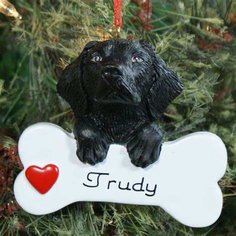 personalized black lab christmas ornament giftsforyounow