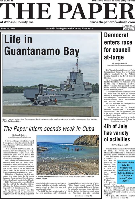 Guantanamo Bay Essay by The Paper Of Wabash County June 29 2016 Issue By The Paper Of Wabash County Issuu