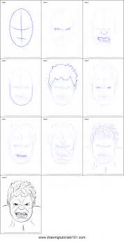 How To Draw how to draw the hulk face printable step by step drawing sheet