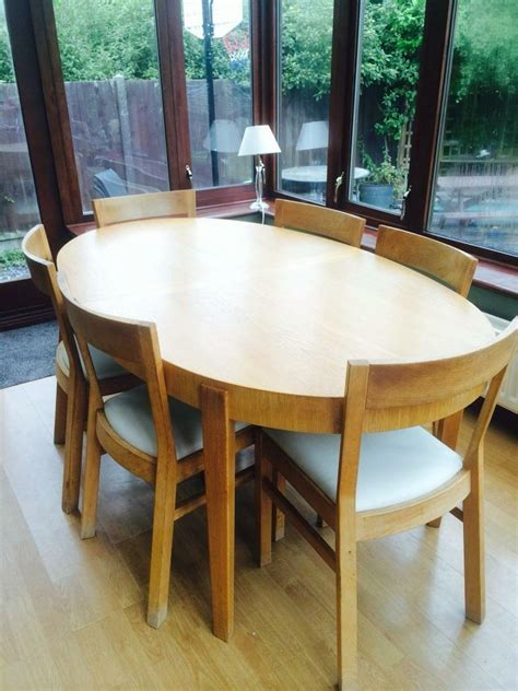 oval dining table for 4 ikea oval dining table 6 chairs in leigh on sea essex