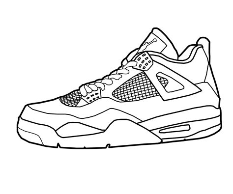 Free Nike Air Outline Coloring Pages Shoe Coloring Pages