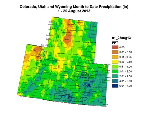 colorado average temperature map weekly climate water and drought assessment of the