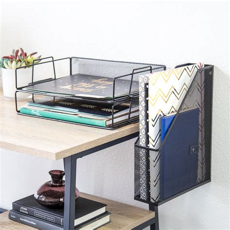 desk accessories and organizers amazon com u brands hanging file desk organizer wire