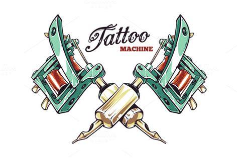 tattoo gun animation tattoo machine illustrations on creative market