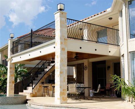 balcony patio custom balconies railings houston dallas katy texas