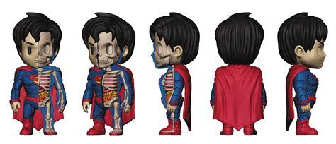 Mighty Jaxx Superman Monochrome previewsworld xxray dc comics superman 4in vinyl figure
