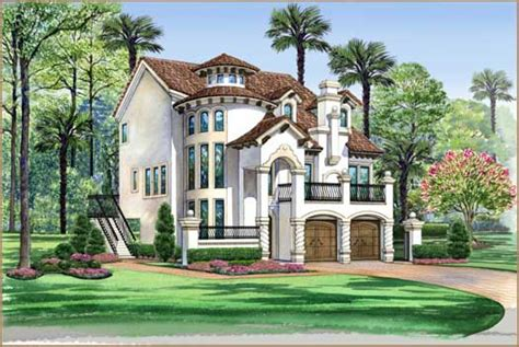 italian style home plans italian style house plans 3596 square foot home 3