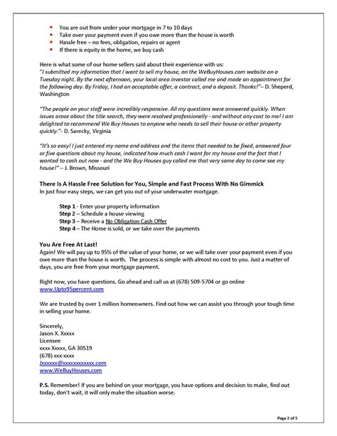 Support Letter Housing Sle Sales Letters Grovers Copywriting