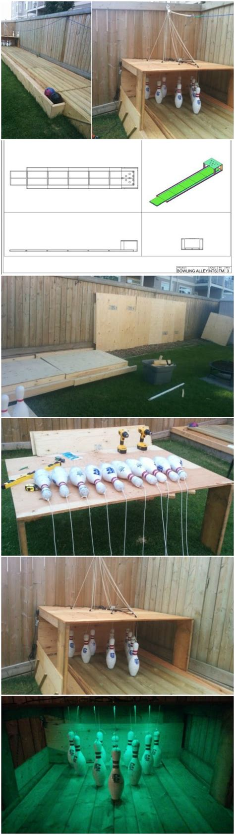 diy backyard bowling alley backyards bowling and diy and crafts on pinterest