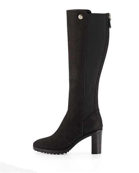 burch sullivan leather knee boot in black lyst