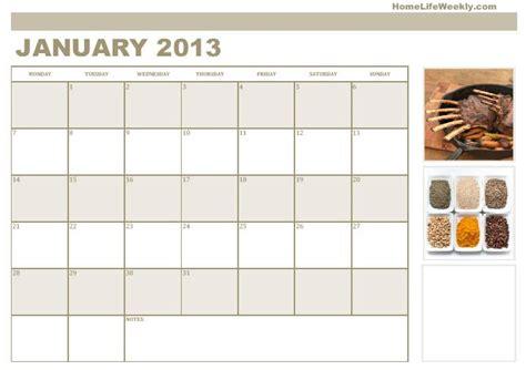 printable quarterly calendar 2013 printable calendar 2013 171 home life weekly