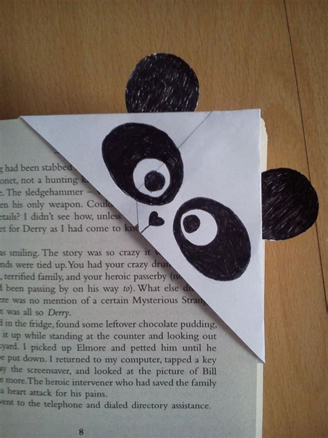 Origami Bookmark Panda - panda bookmark by nyanko68 on deviantart