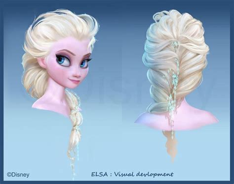 Elsa Button Hairclips elsa s hair hair disney frozen 2013 and elsa hair