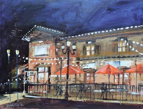 saatchi italian restaurant painting by richard szkutnik