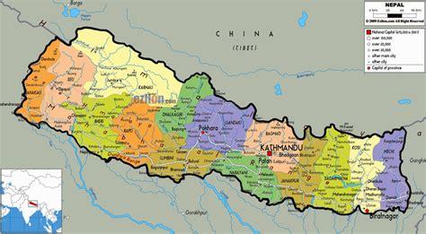 nepal on map nepal map hd image