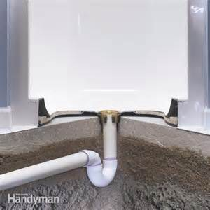 basement floor drain installation 25 best ideas about fiberglass shower stalls on