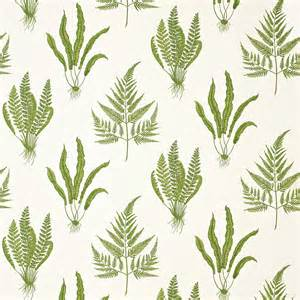 Botanical Curtains Roman Blinds In Woodland Ferns Fabric Green Dapgwo202
