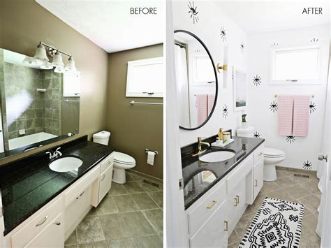 Bathroom Makeover Before And After by S Guest Bathroom Before After A Beautiful Mess