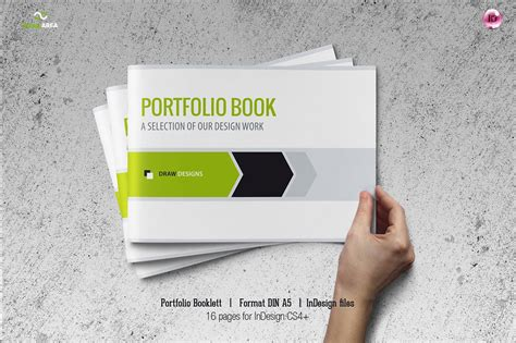 logo portfolio template portfolio booklet din a5 brochure templates creative