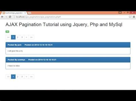 ajax jquery tutorial youtube ajax pagination using jquery php mysql part 2 3 youtube