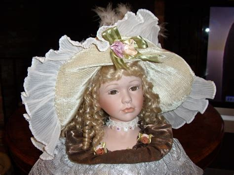 4 ft porcelain dolls antique quality porcelain collectors doll in period dress