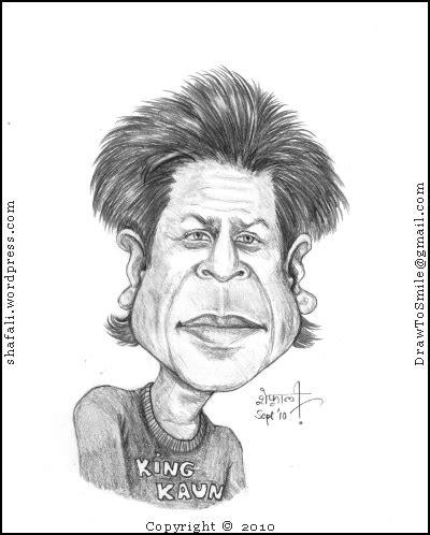 actor ka cartoon caricature cartoon shahrukh khan or king khan wondering