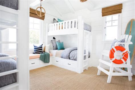 bunk beds designs for rooms coastal bedroom with bunk beds lifeguard chair 2015 fresh faces of design awards hgtv