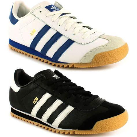 Adidas Fashion Retro Running Shoes Adidas Originals Mens Rom Trainers White Running Shoes