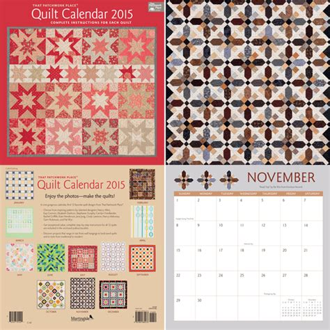 Quilting Calendar by Quilter Gifts 2015 Quilting Calendars 4