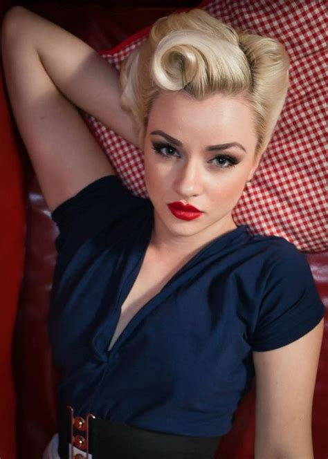 40 S Pin Up Hairstyles by 40s Pin Up Hairstyles Www Pixshark Images