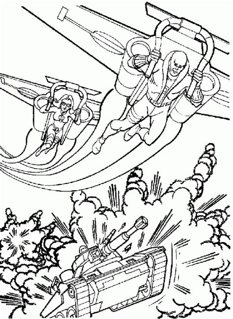 coloring page action man coloring pages 14