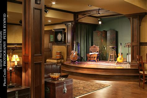 Home Plans With Indoor Pool pub stage traditional basement new york by carisa