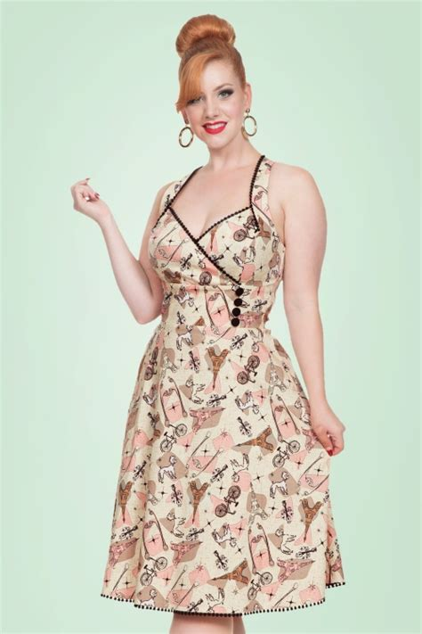 cream swing dress 50s claudine swing dress in cream