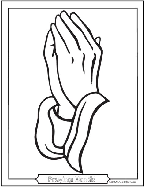 free coloring pages of praying hands card