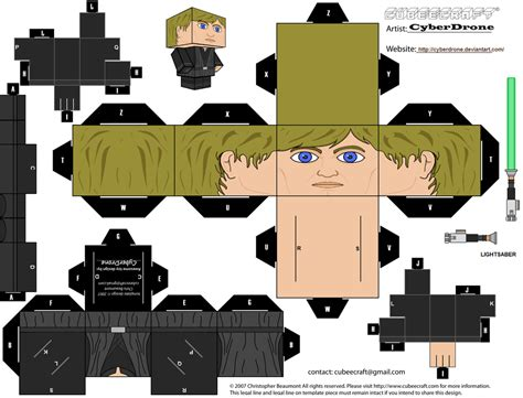Starwars Papercraft - cubee luke skywalker jedi by cyberdrone on deviantart