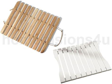 Wooden Duckboard Bath Mat by Walnut Or White Slatted Wooden Duckboard Rectangular