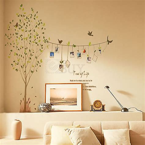 kids bedroom wall decals vivid tree words photo frame removable decal wall decor