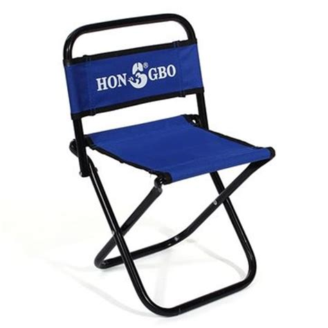 Portable Folding Stools by Portable Folding Chair Backrest Fishing Chair Small Blue