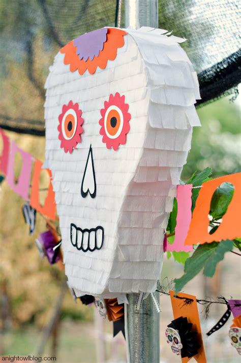 day pinata day of the dead skull pinata a owl