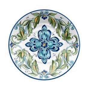 better homes and gardens 10 5 quot melamine dinner plate blue