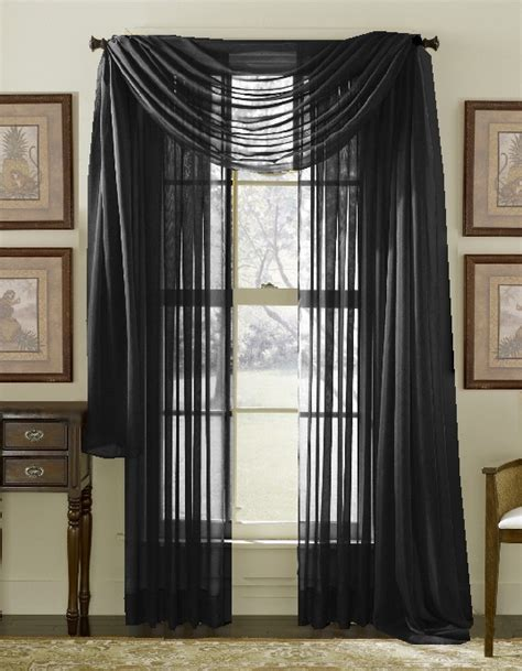 Black Valance Curtains Black Sheer Window Valance