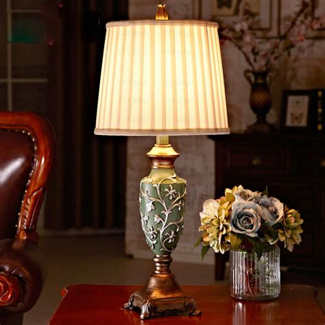 modern ee fabric shade living room table lamps