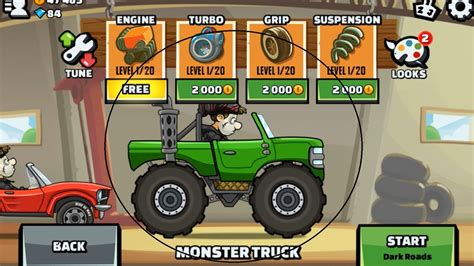 hill climb racing monster truck hill climb racing 2 monster truck youtube