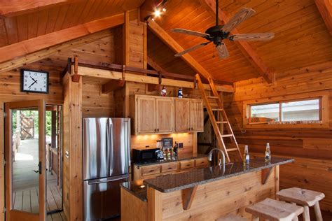 Cabin kitchen ideas kitchen rustic with wood beams wood
